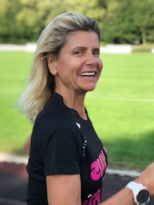 Véronique Girard en coaching de Jogging